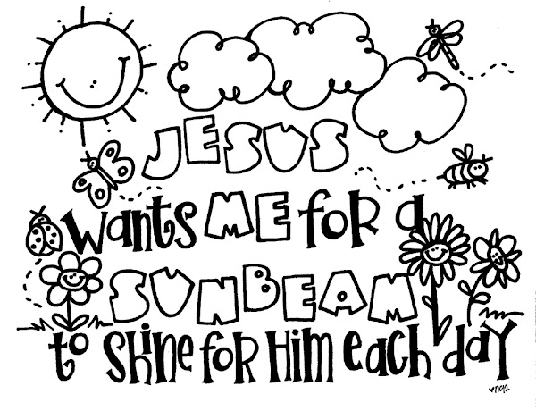 LDS Sunbeam Coloring Pages