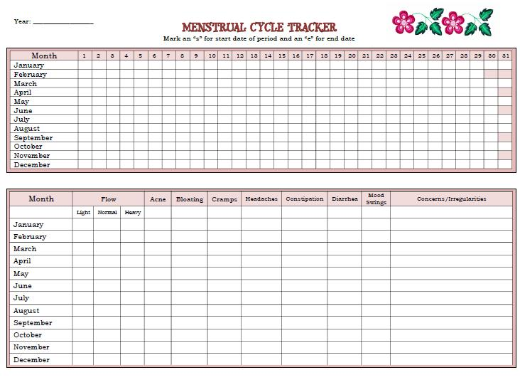 ... Raising Muslim Daughters: Menstrual Cycle Printable Calendar/Tracker