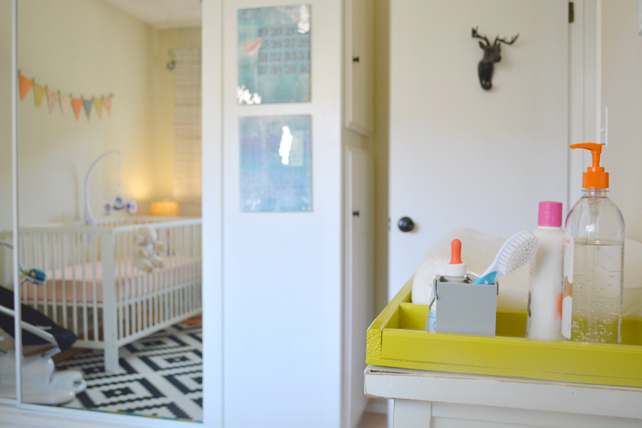 Ford's Baby Boy Nursery Changing Table - Interior Design by Lesley Myrick, Pasadena Interior Designer