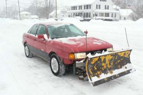 Video Audi 90 Quattro With Snow Plow Becomes Quot The Plaudi