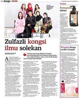Ellis Suzanis Makeup Artist with Sifu Zulfazli Di Utusan Malaysia