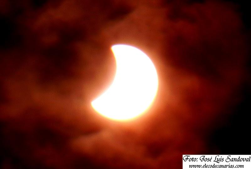 Fotos eclipse parcial Sol Gran Canaria 20 marzo