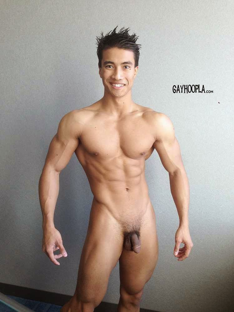 Big gay asian muscle men