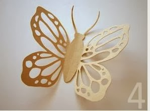 C mo hacer mariposas bonitas de papel - Como hacer mariposas de papel para decorar paredes ...