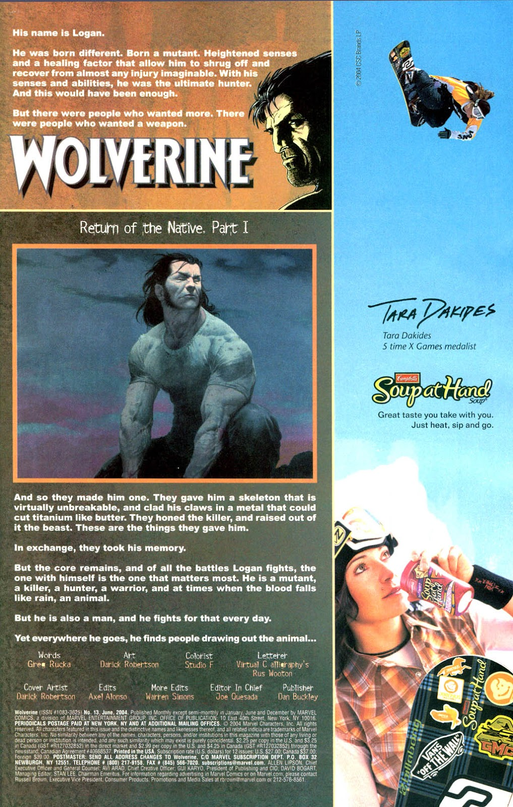 Read online Wolverine (2003) comic -  Issue #13 - 2