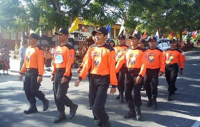 Senkom Belitung ikut Lomba Gerak Jalan