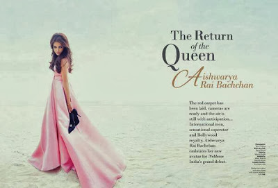 Aishwarya -The Return of Queen The first cover girl for Noblesse India!
