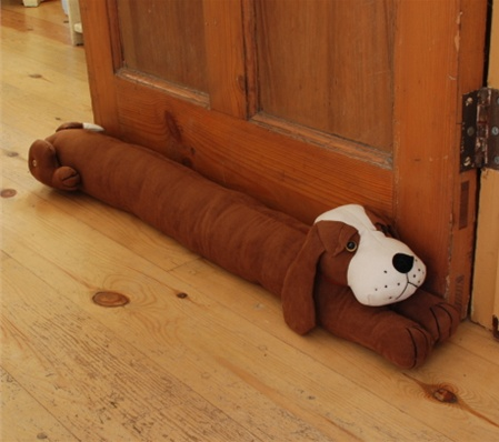 Dog door draught excluder