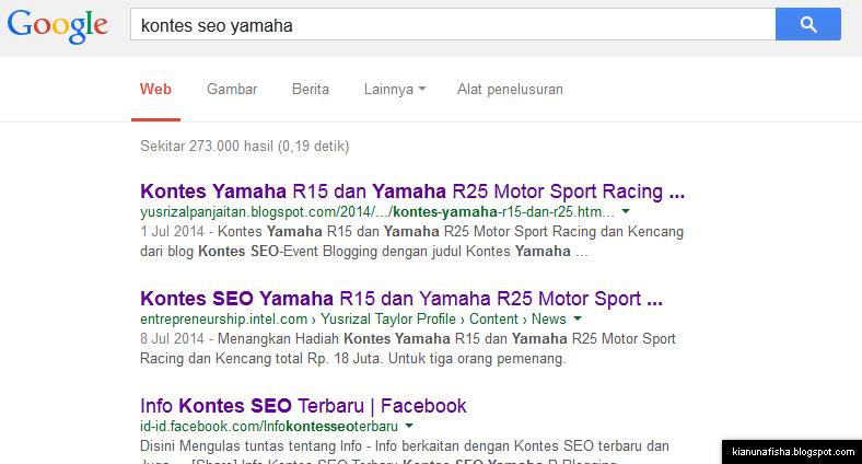 kontes seo yamaha di google