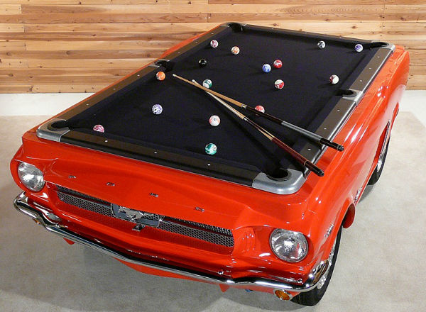 Ford Mustang Pool Table Spicytec - Clear pool table