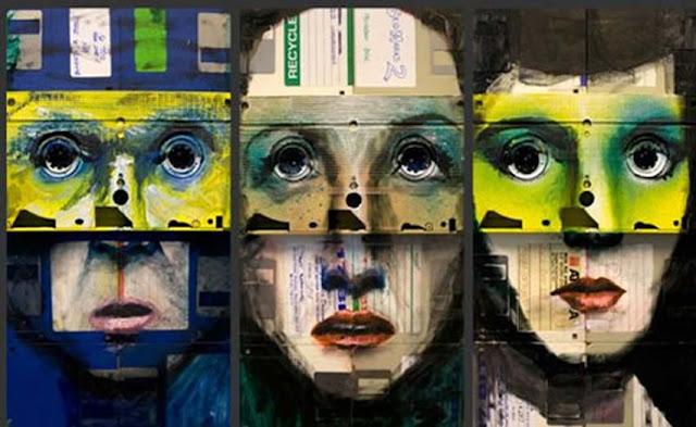 Green Pear Diaries - Nick Gentry pintura discos 6