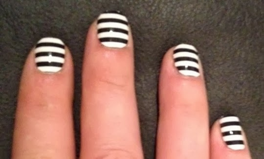 Simple Zebra Nail Tips for Girls