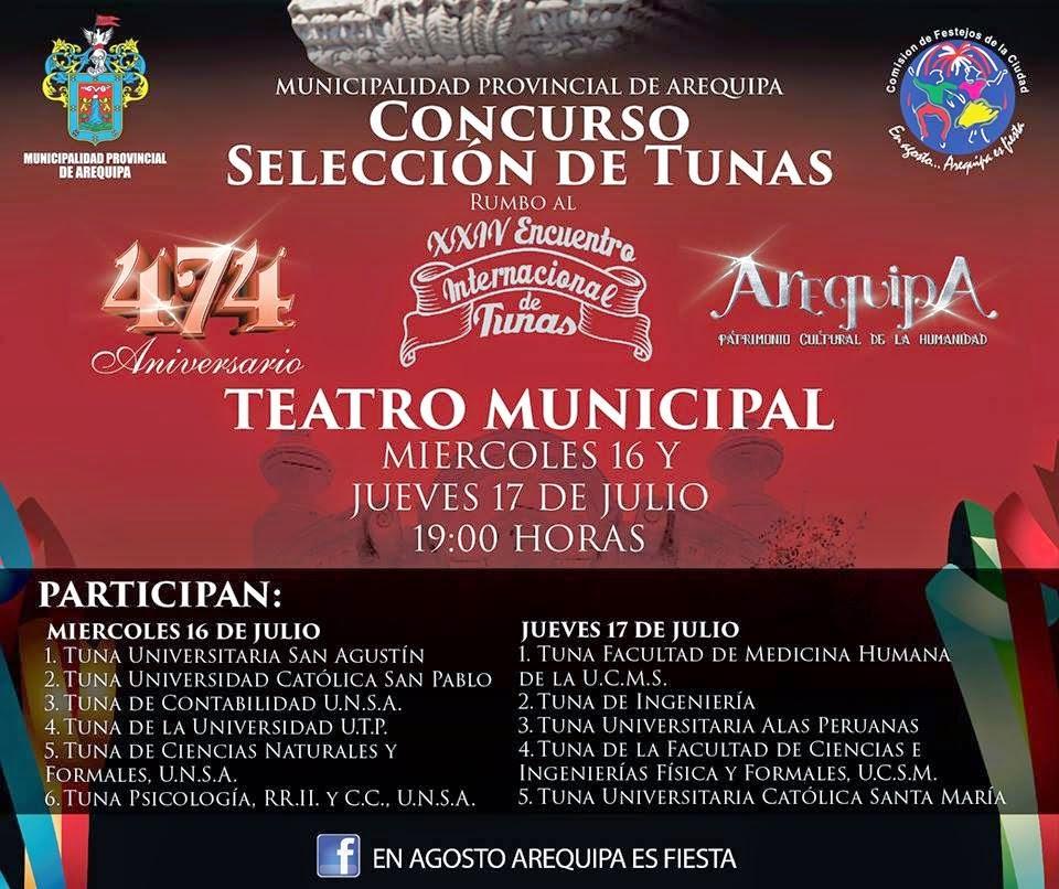 Concurso de tunas Arequipa