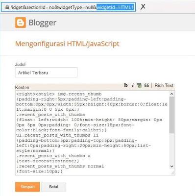 Widget Blogger