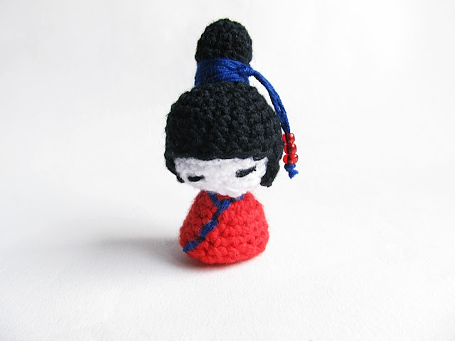 {Amigurumi Kokeshi Dolls} - Little Things Blogged