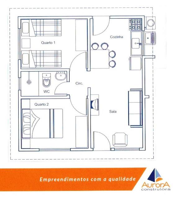 Plantas de casas da caixa economica federal for Piani casa economica da costruire