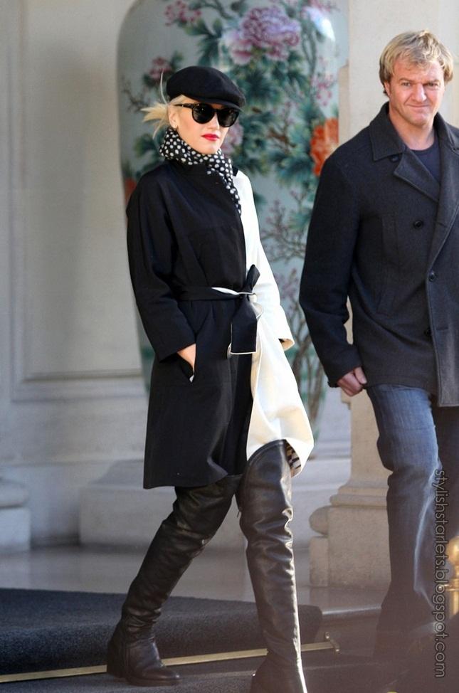 Stylish Starlets: Gwen Stefani Street Style: Paris