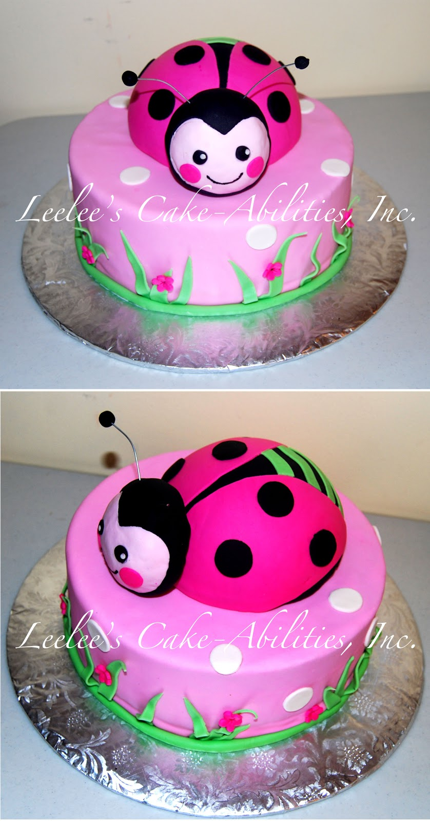 leelees cake abilities ladybug baby shower cake and invite