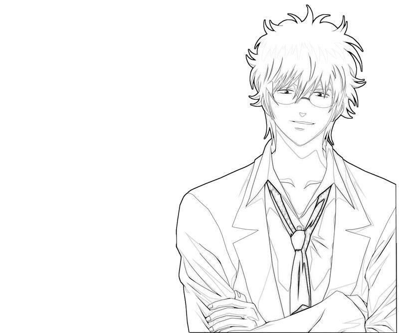 sakata-gintoki-handsome-coloring-pages