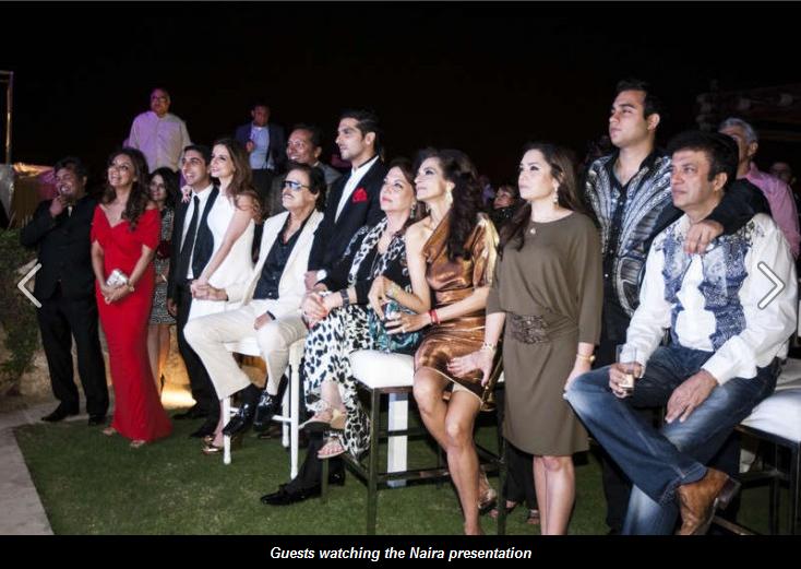 Sussane Roshan, Gauri and Sanjay khan at Dubai to Introduce Project Naira