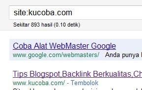 Menghitung Posting Yang Terindex Mesin Pencari Google