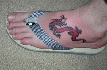 Dragon Tattoo on Foot