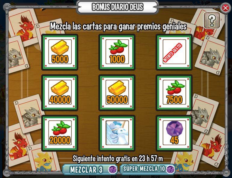 la posibilidad de ganar 45 gemas y un dragon puro el dragon pirata fue