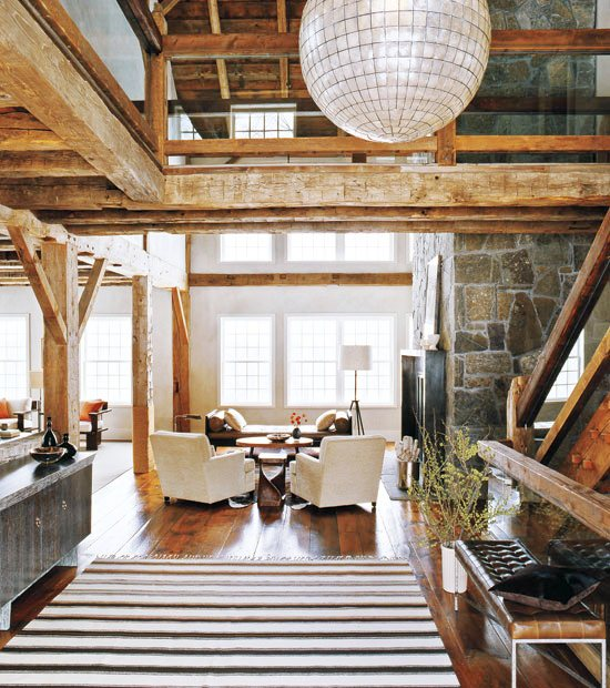 Modern Rustic Foyer : See this house barn raising style cococozy