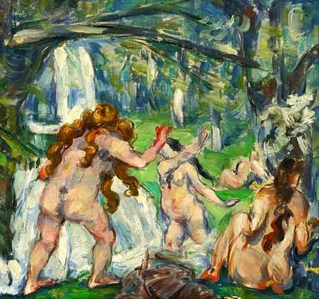 Paul Cézanne - Trois baigneuses,1875.
