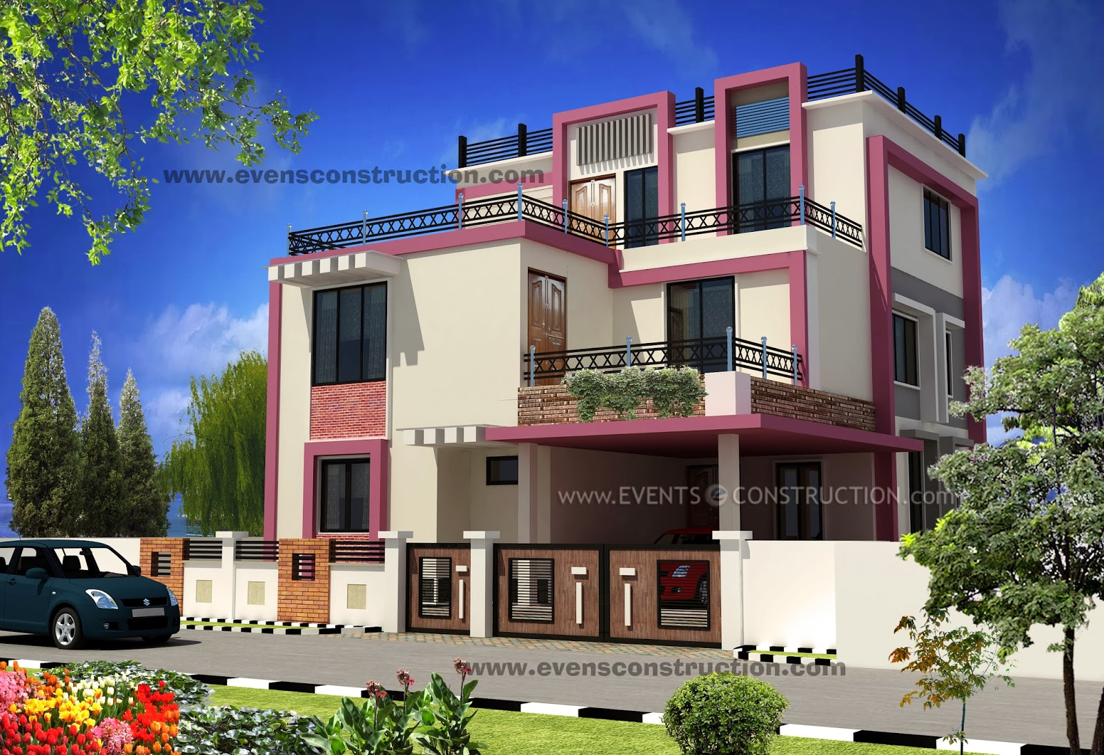 Evens construction pvt ltd 3d kerala house designs november 2013 - D home designer ...