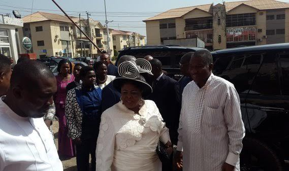 Photos: Goodluck Jonathan & wife makes a rare public appearance