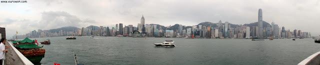 Puerto Victoria de Hong Kong visto de día