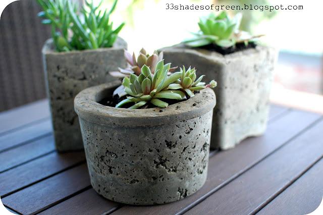 Making Hypertufa Pots - 33 Shades of Green