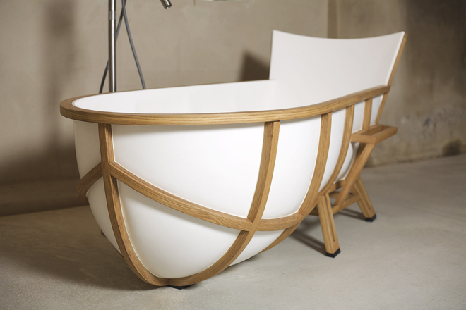 The First Time I Saw The Tub, I Was Completely Enamored With The Shape And  Form Of The Tub Around The Wooden Frame... Make Sure Youu0027re Paying Close ...
