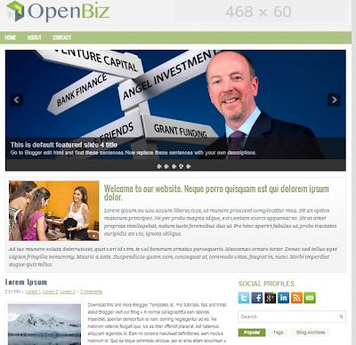 قالب OpenBiz معرب من اجلكم