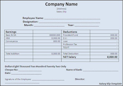 all about salary slip