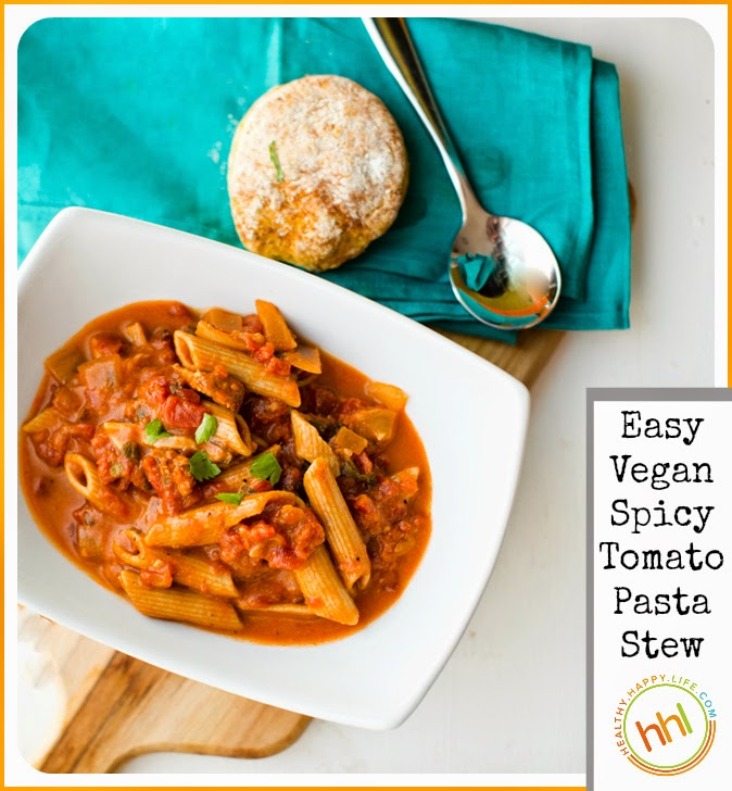 Spicy tomato pasta stew easy vegan dinner 3 secret ingredients this past busy week i have been having hearty vegan stew for dinner just about every night i love stews this time of year for a few reasons forumfinder Images