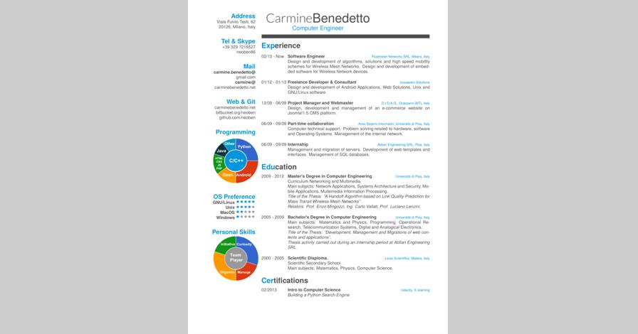 friggeri resume cv this beautiful resume cv template is suitable