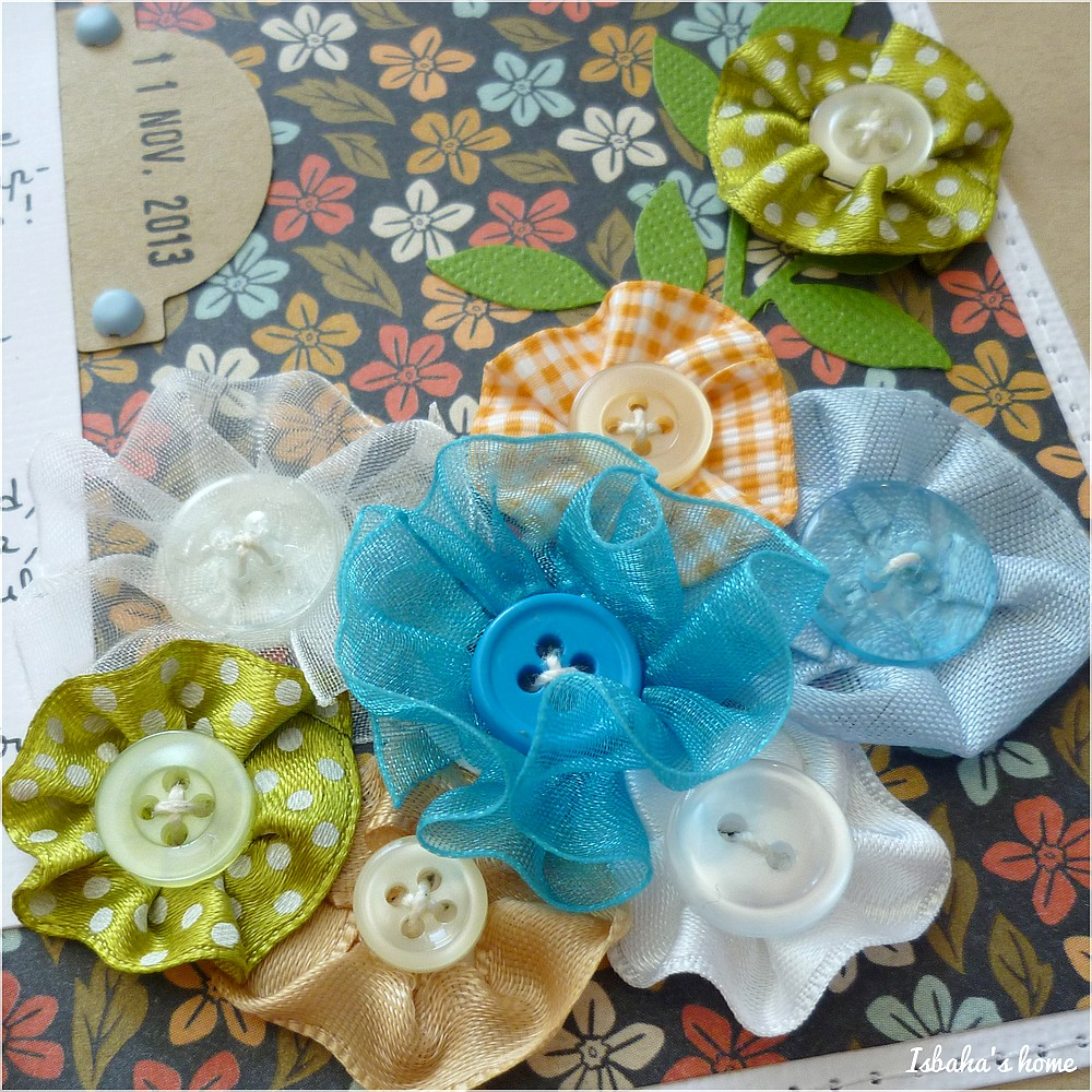 scrapbooking homemade ribbon flowers