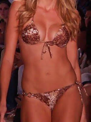 Bronz mintás fémes csillogású bikini