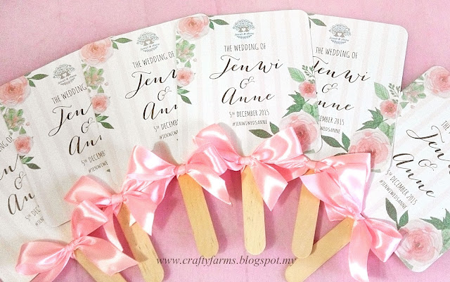 Watercolour Flower Church Ceremony Program Fan