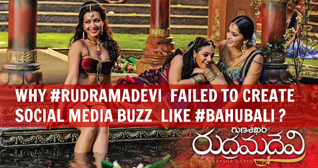 Rudramadevi failed to get social media buzz like Bahubali?