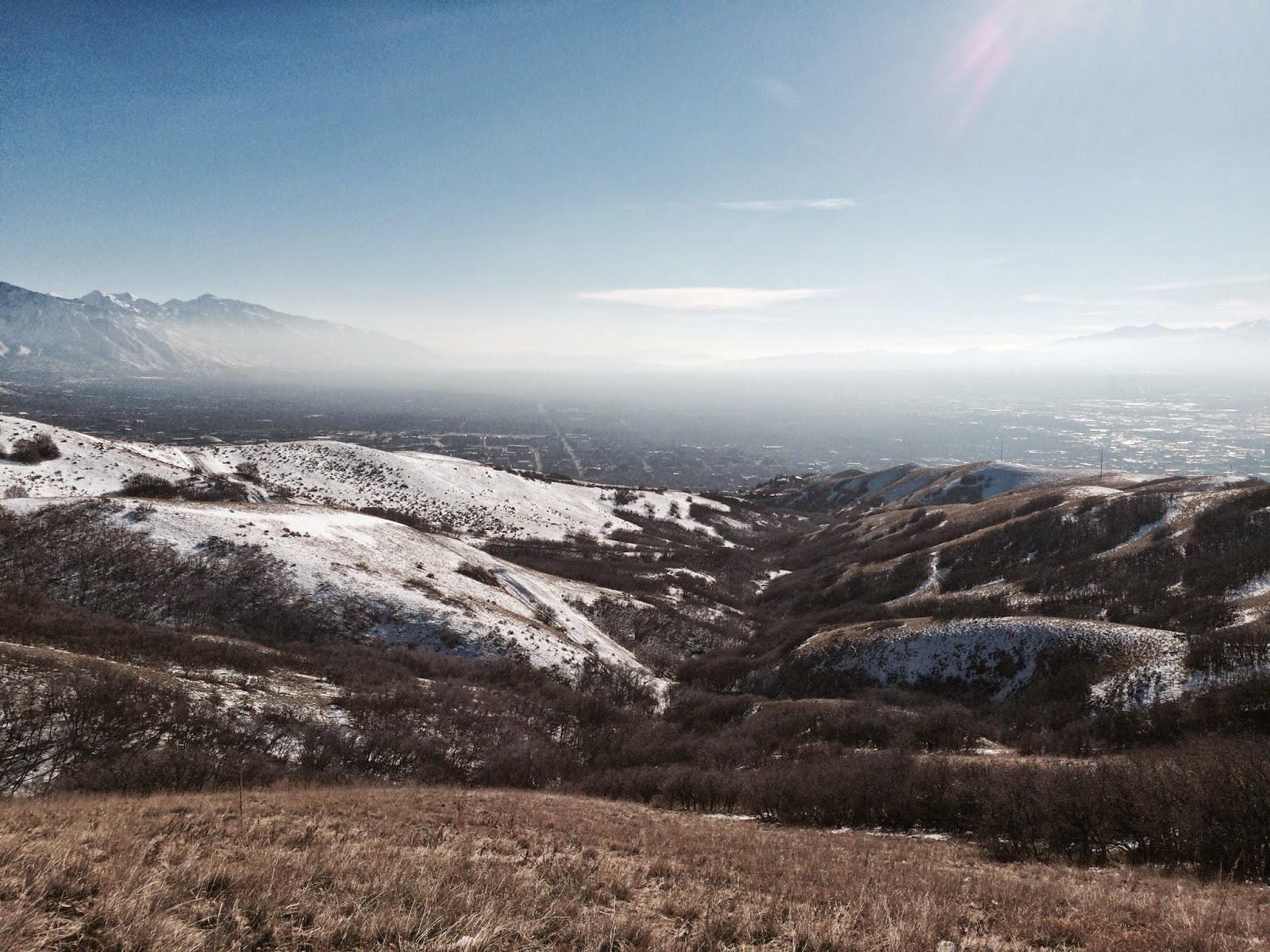 salt lake city valley, bonneville shoreline trail