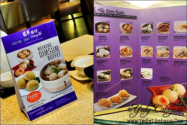 Weekend Dim Sum Buffet Menu at Crystal Jade Dining IN