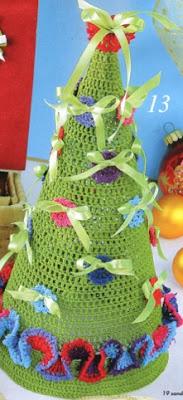 вязание крючком, елка, Новогодние идеи,