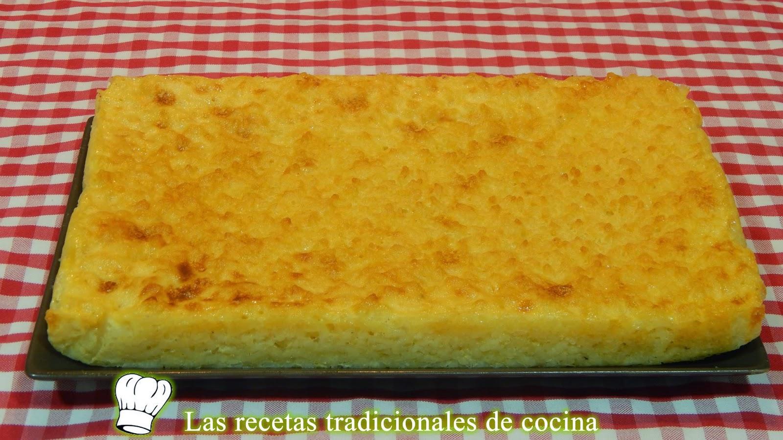 pastel de arroz al horno