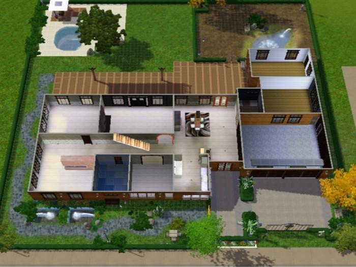 Home design hotshot sims 3 2017 2018 best cars reviews for Minimalist house sims 3