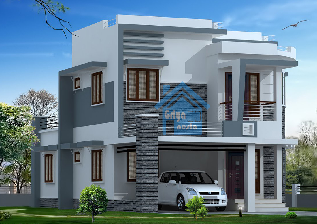 desain rumah modern 170 meter desain rumah griya indonesia
