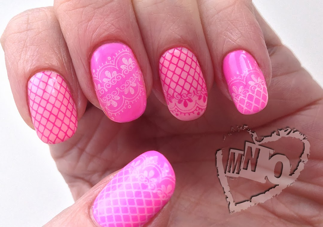 Gel Nail Art Stamp Stamping Design Lace Valentine