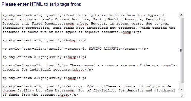 strip html tags